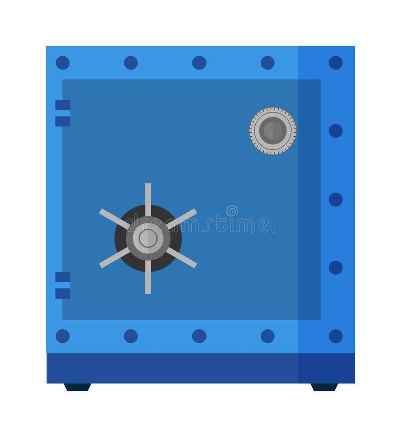 Сейф металла безопасностью с пустым космосом внутри вектора коробки защиты бесплатная иллюстрация