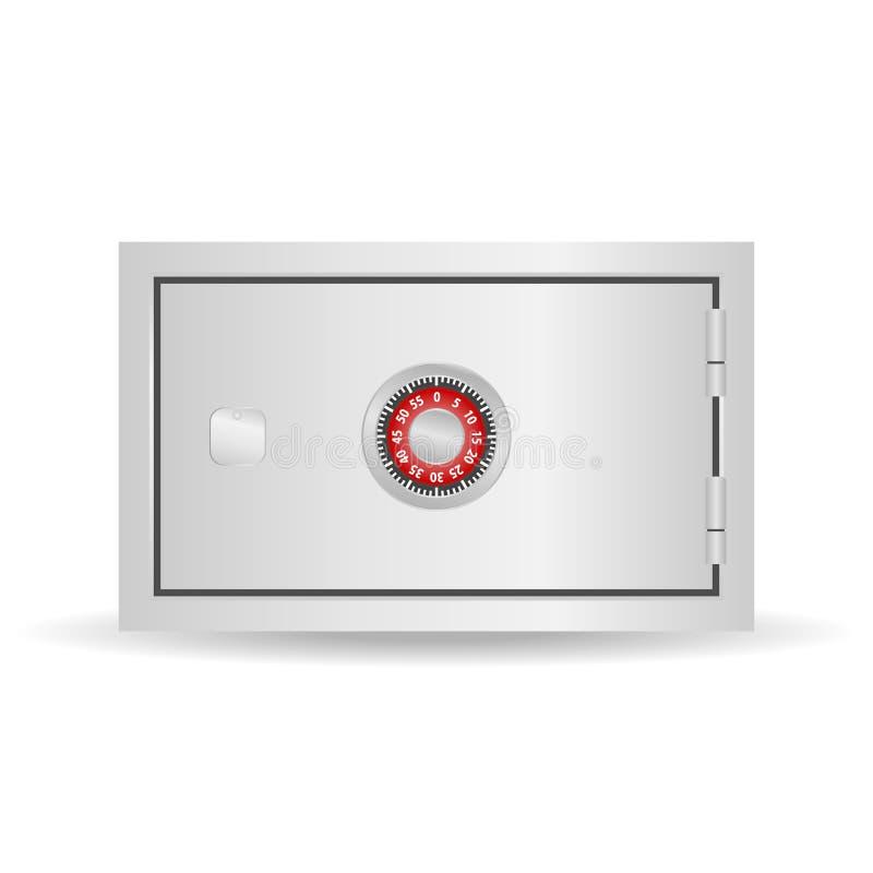 Сейф, реалистический сейф с замком комбинации Безопасный значок иллюстрация штока