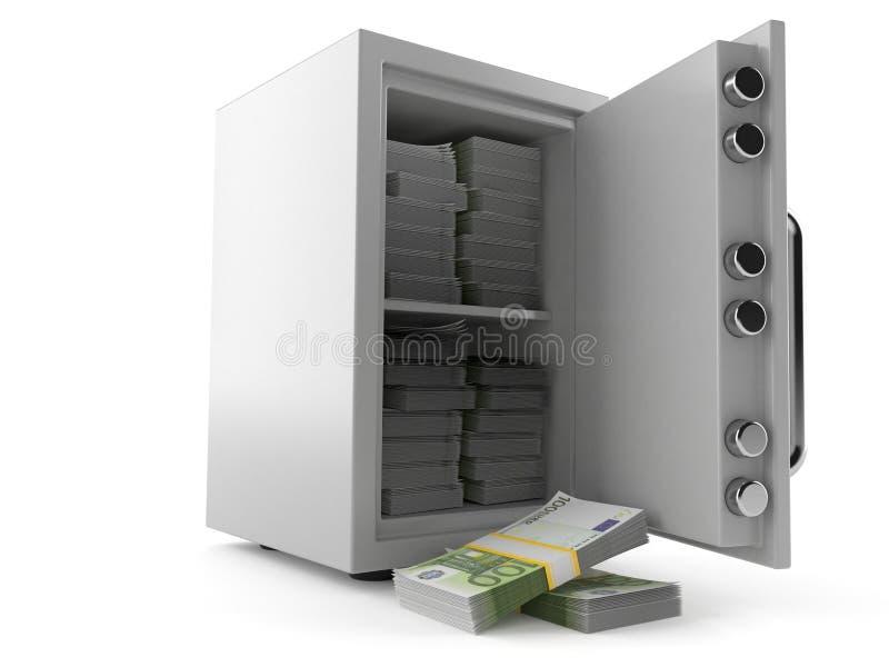 Сейф с валютой евро бесплатная иллюстрация