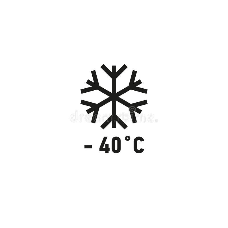 Сейф для пользы на символе замораживателя на белой предпосылке бесплатная иллюстрация
