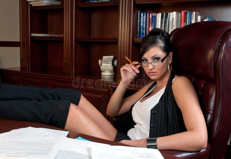 секретарша сексуальная стоковое фото