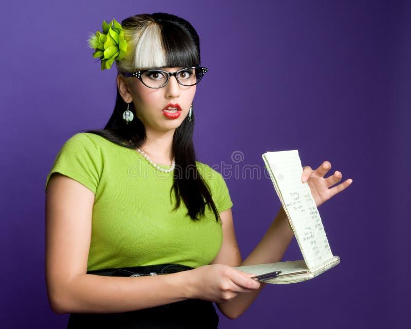 секретарша сексуальная стоковая фотография