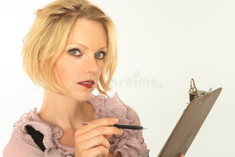 секретарша стоковое фото rf