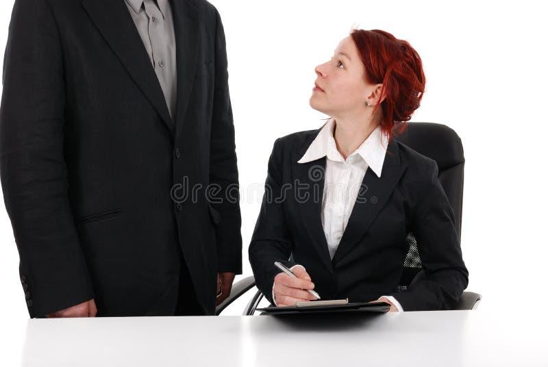 секретарша стоковая фотография