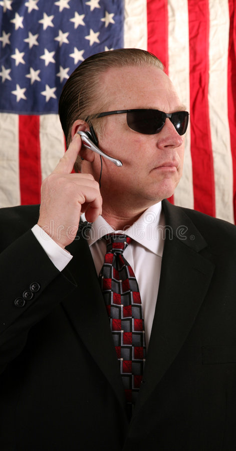 секретная служба агента стоковые фото