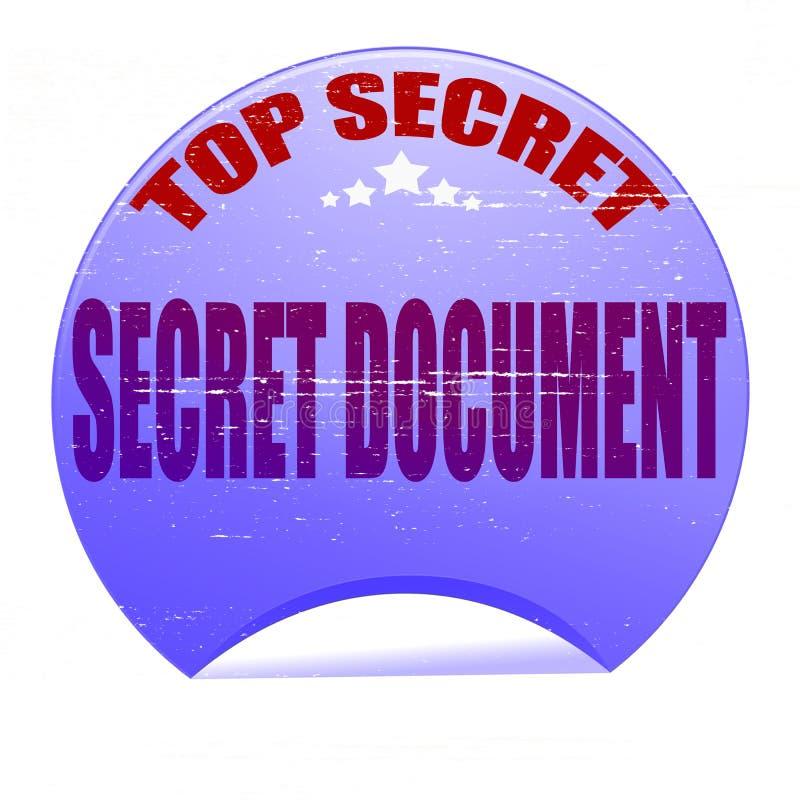 Секретный документ иллюстрация вектора