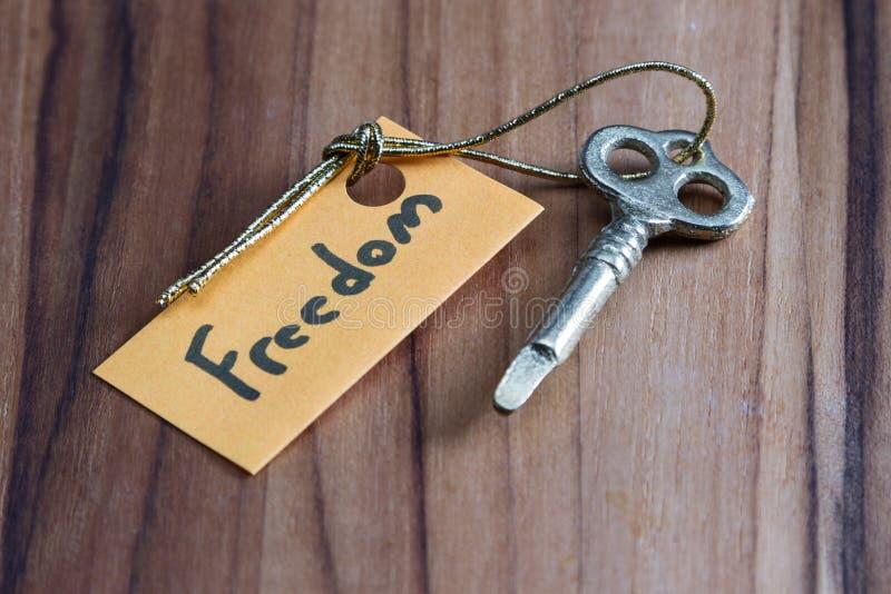 Секретный ключ на свободная жизнь стоковое фото rf