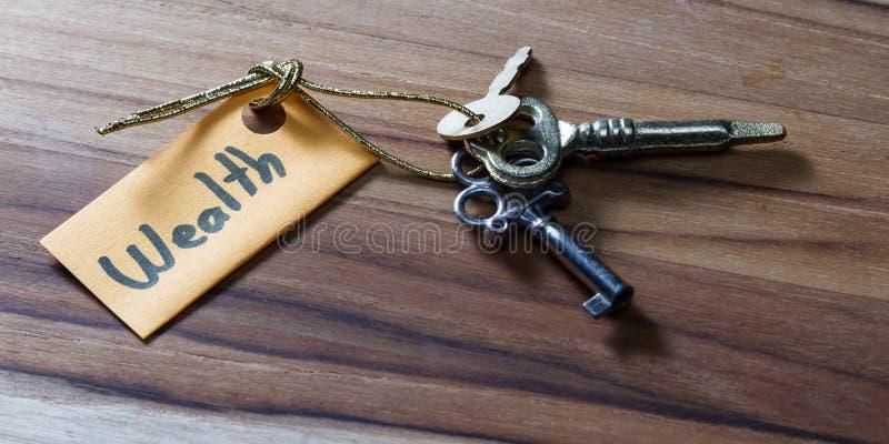 Секретный ключ на состоятельная жизнь стоковые фото