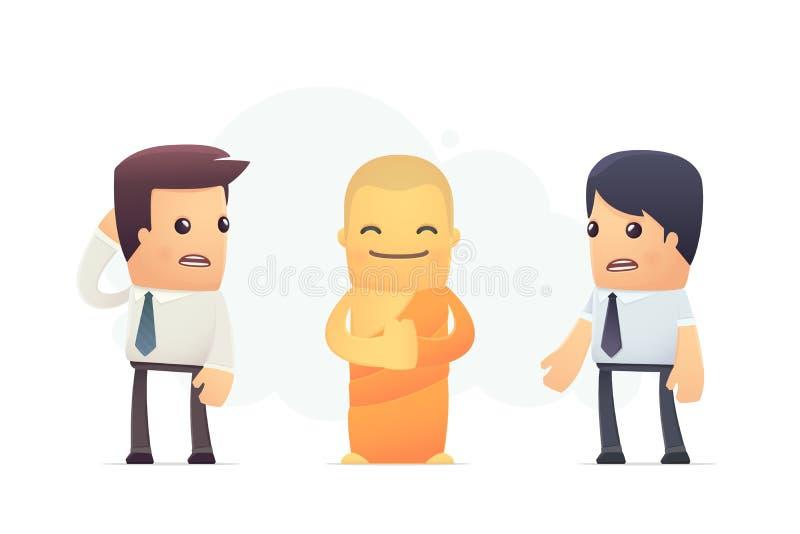 Секреты тибетских монахов иллюстрация штока
