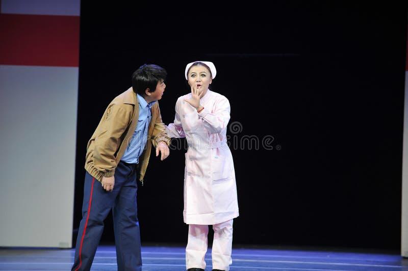 Секрет-Цзянси OperaBlue охранника и медсестры покрывает стоковое фото