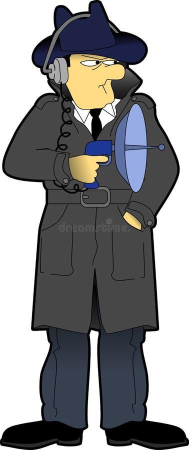 секрет 02 агентов иллюстрация штока