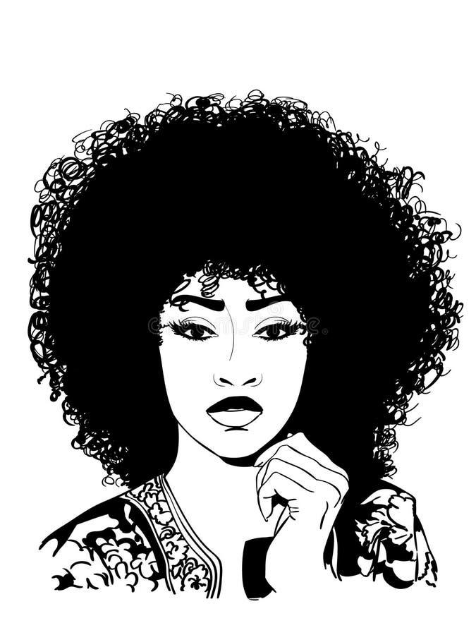 Сексуальная афро иллюстрация eps вектора crafteroks бесплатная иллюстрация