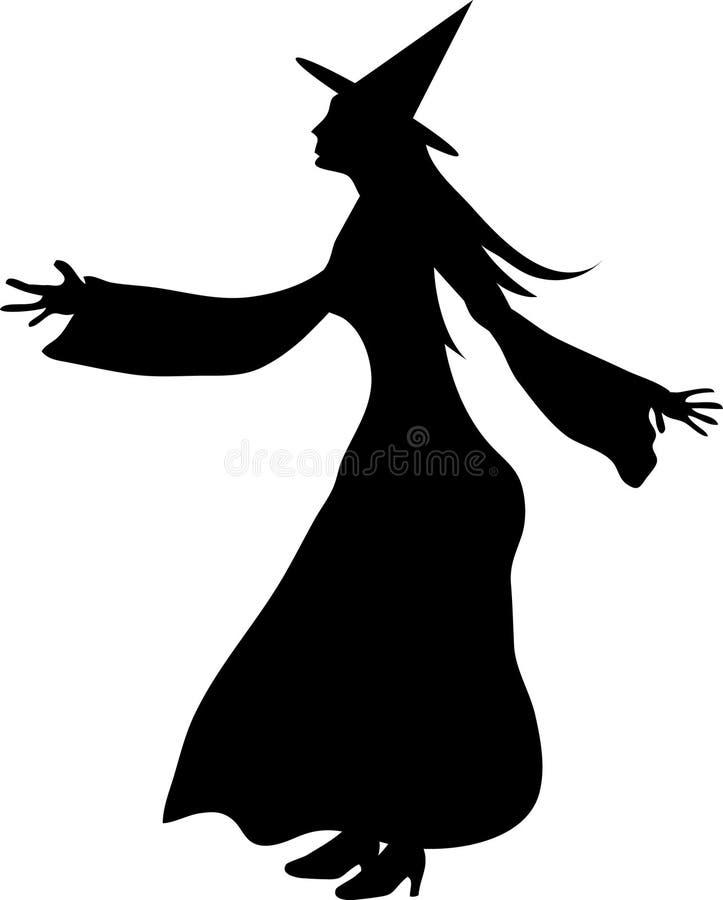 сексуальная ведьма иллюстрация вектора
