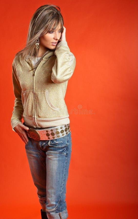 сексуальная женщина стоковое изображение