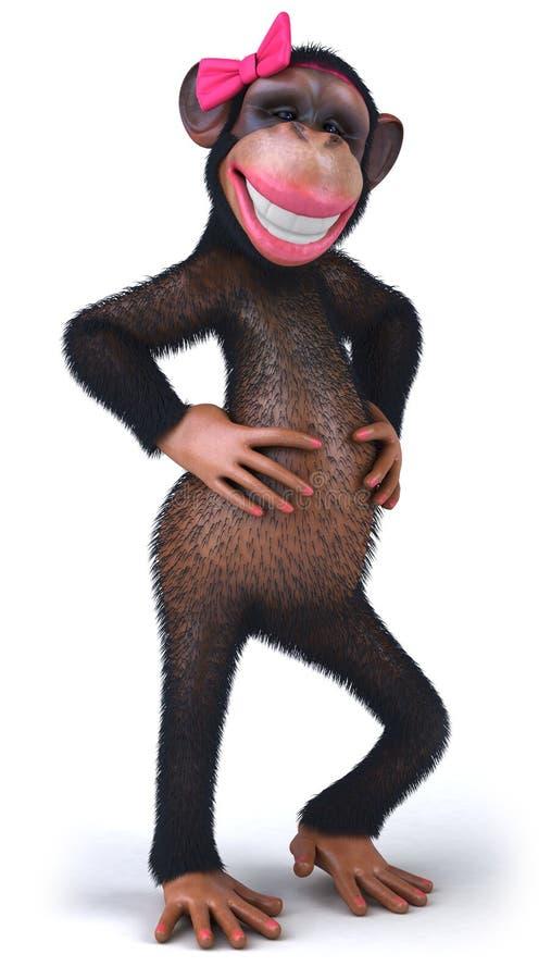 Сексуальная обезьяна иллюстрация вектора