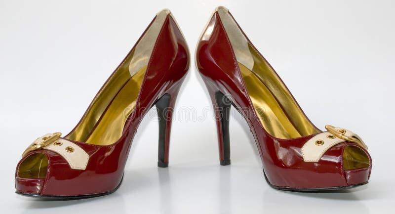 сексуальное высоких пар пяток красное стоковое фото