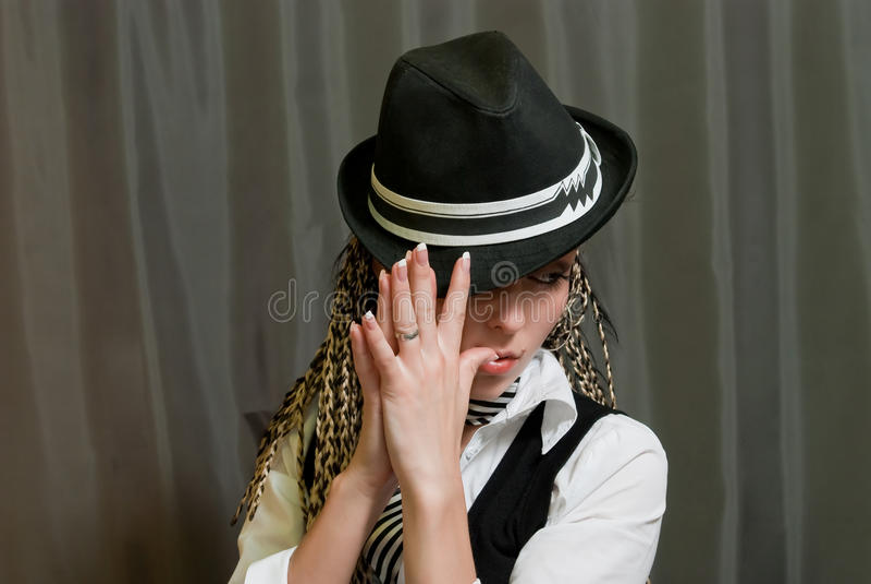 сексуальное девушки серое стоковая фотография rf