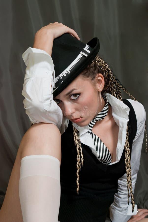 сексуальное девушки серое стоковые изображения rf