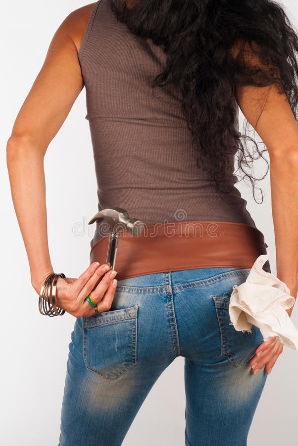 Сексуальное handycraft стоковая фотография rf