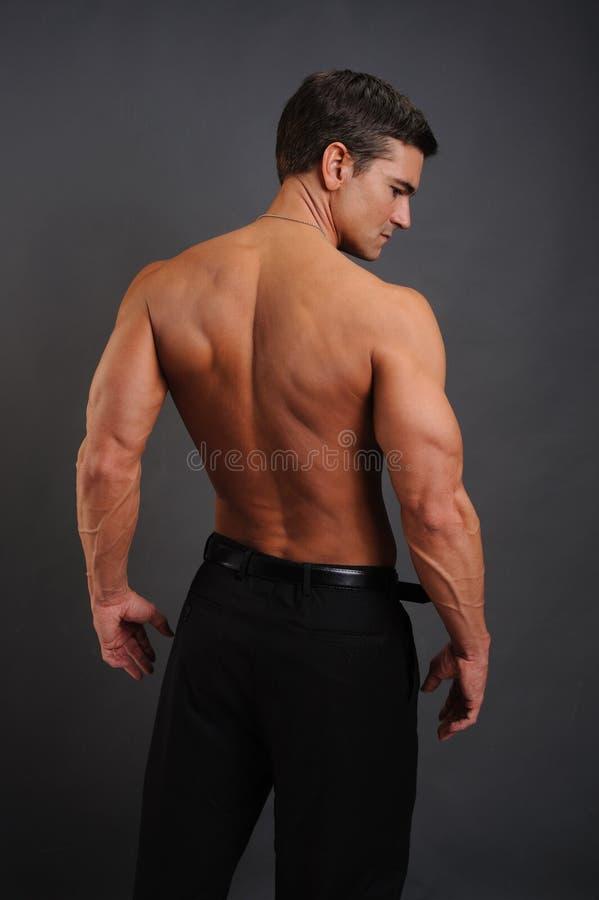 Сексуальные представления человека для камеры стоковая фотография rf