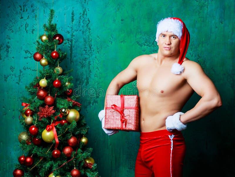 Сексуальный человек Санта стоковые изображения rf