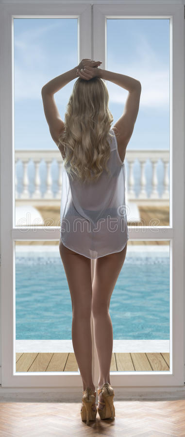 Сексуальные девушки у окна