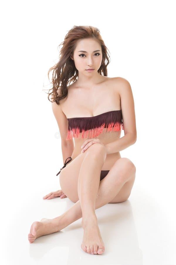 Сексуальная женщина бикини стоковое фото rf