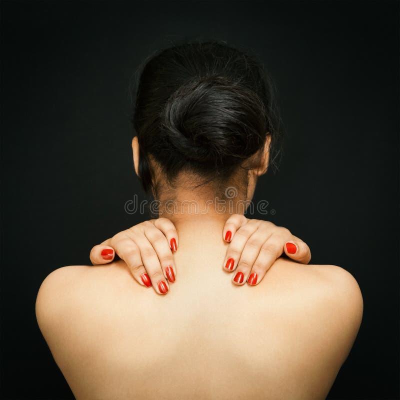 Сексуальная задняя часть молодой азиатской женщины стоковые фото