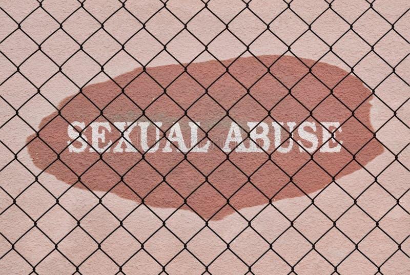 Сексуальное надругательство текста стоковые изображения rf