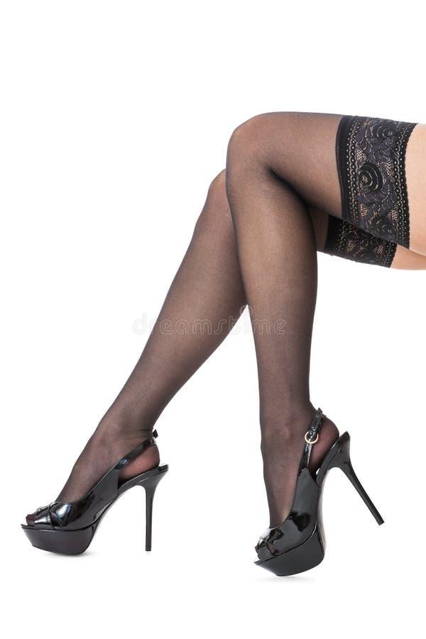Женские ножки в сексуальных чулках