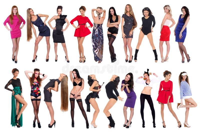 Сексуальные 20 моделей стоковое изображение rf