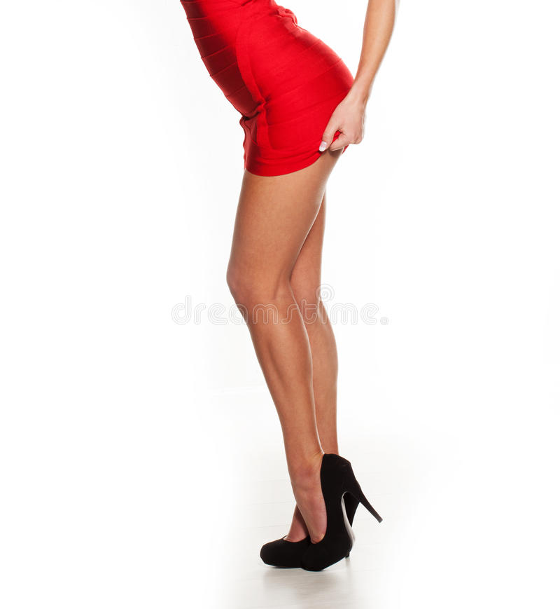 Сексуальные ноги и бомж стоковое изображение rf