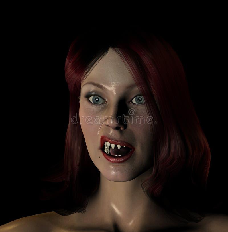 Сексуальный красный с волосами Vamp Стоковое фото RF