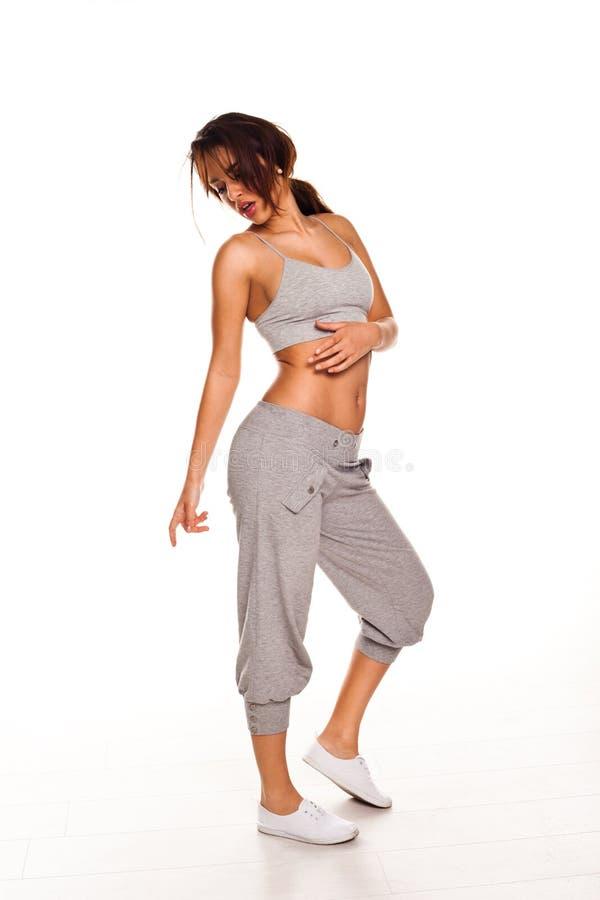 Сексуальный молодой тазобедренный танцор хмеля стоковые изображения rf