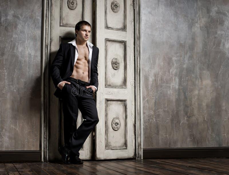 Сексуальный человек стоковое фото rf