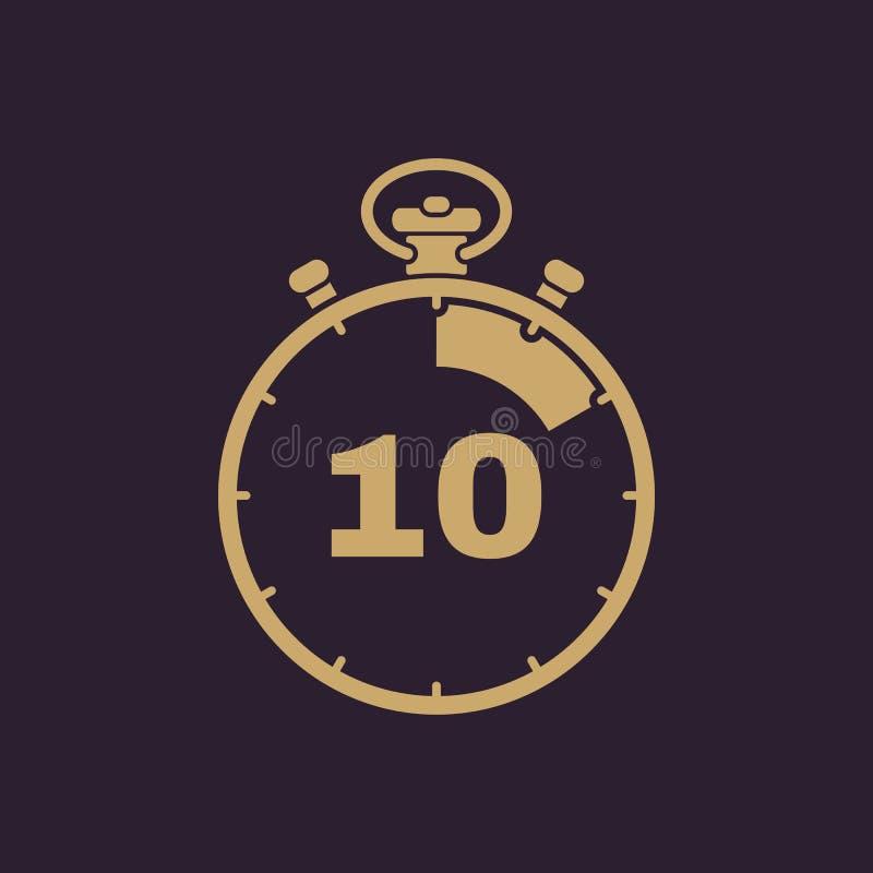 10 секунд, значок секундомера минут Часы и вахта, таймер, комплекс предпусковых операций, символ секундомера Ui Веб логос Знак пл бесплатная иллюстрация