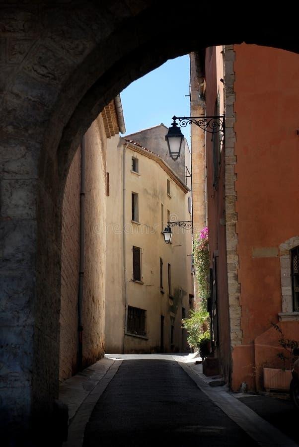 село взгляда улицы Франции Провансали стоковая фотография
