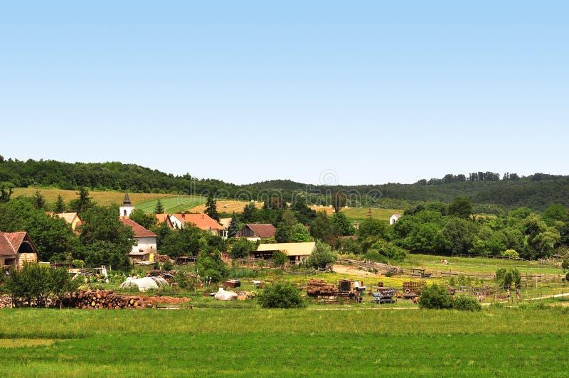село взгляда стоковое изображение