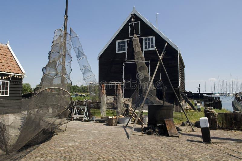 село голландского рыболовства старое стоковое фото