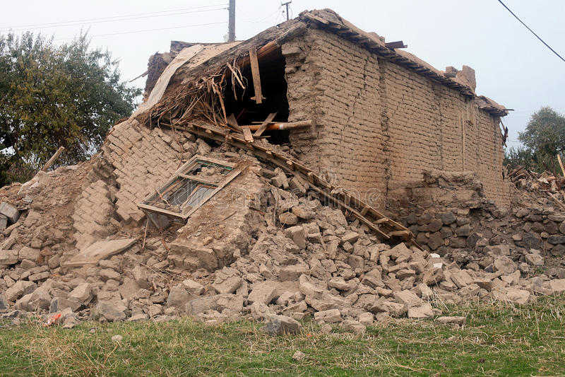 село землетрясения стоковое фото rf
