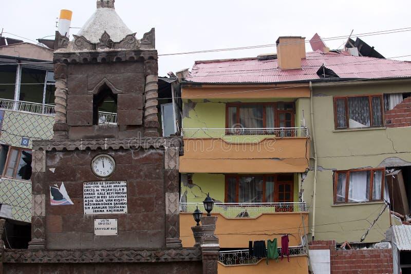 село землетрясения стоковая фотография rf