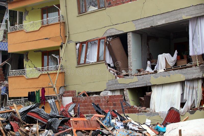село землетрясения стоковые фотографии rf