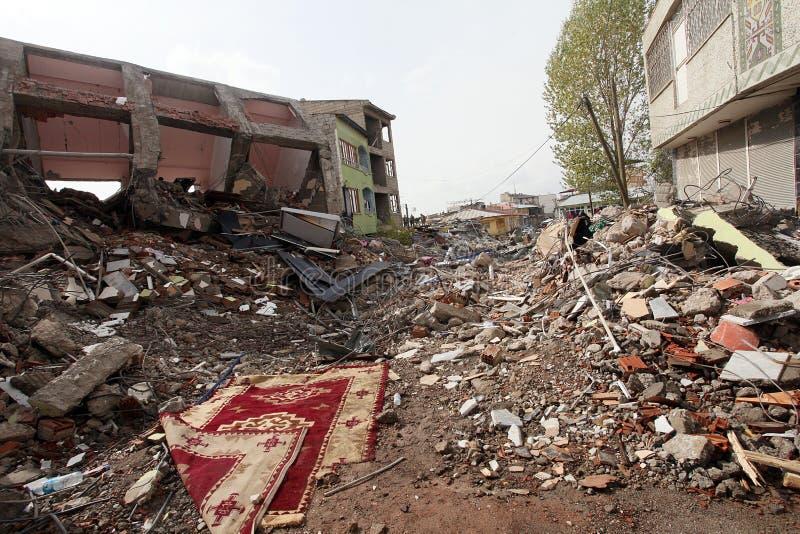 село землетрясения стоковые фото