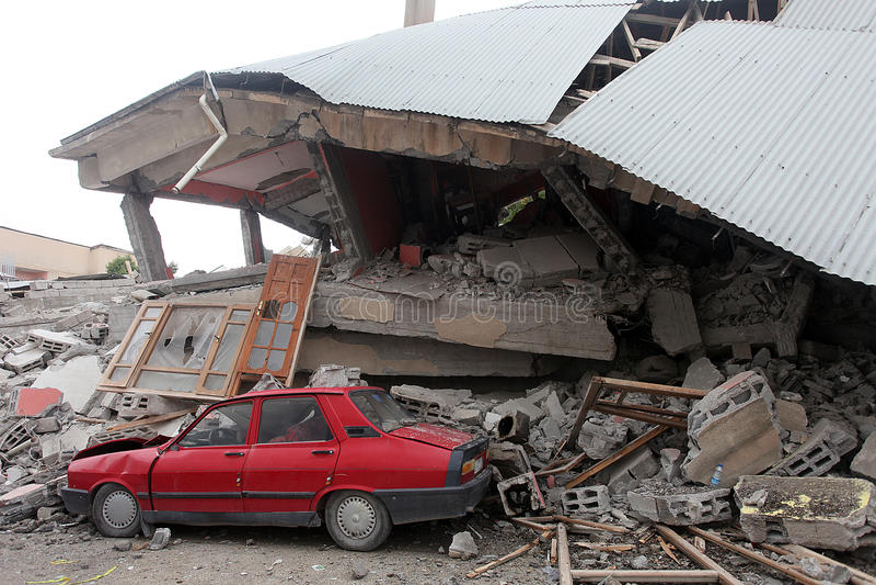 село землетрясения стоковые изображения