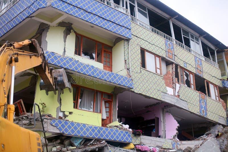 село землетрясения стоковые изображения rf
