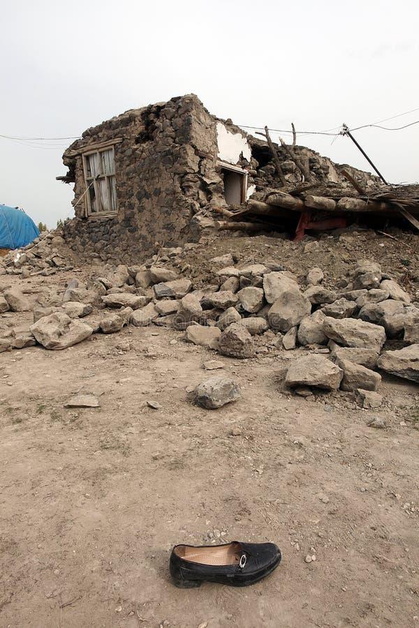 село землетрясения стоковая фотография