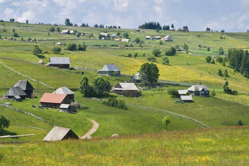 село румына горы стоковое изображение