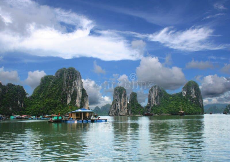 Село рыболовов стоковая фотография