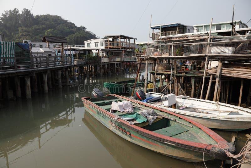 село рыболовства o tai стоковая фотография