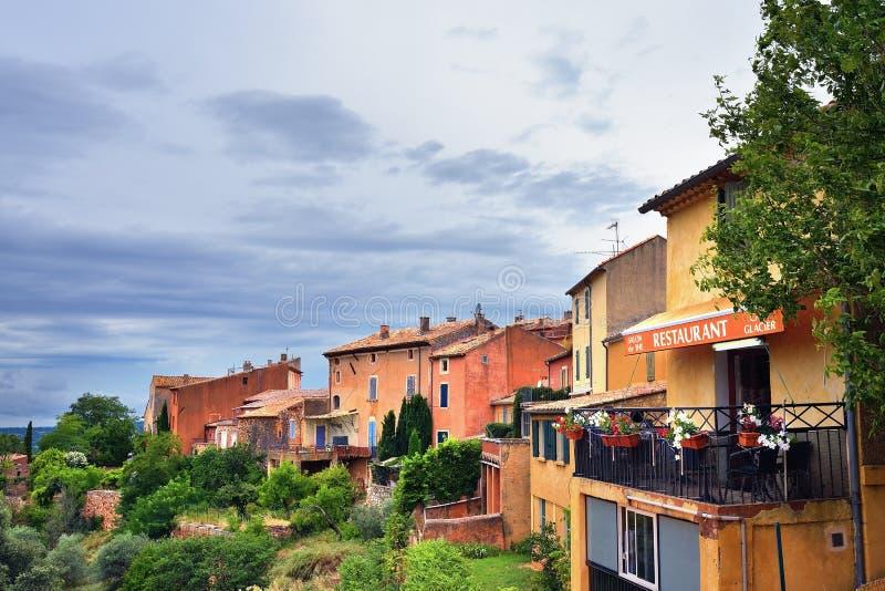 село Франции roussillon стоковое изображение rf